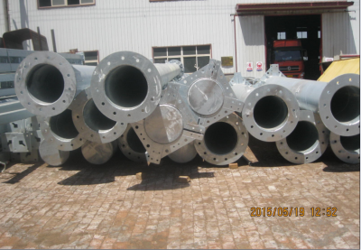 Hot Dipped Galvanized Steel Poles and Column